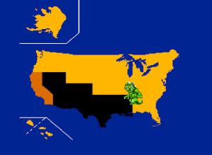Rampage (NES) - Mapa