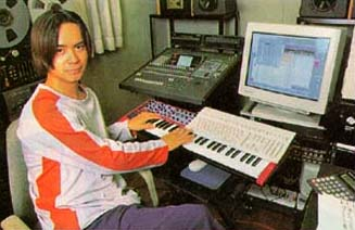 Yuzo Koshiro no estúdio