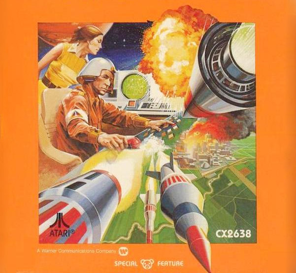 Missile Command Atari 2600 art