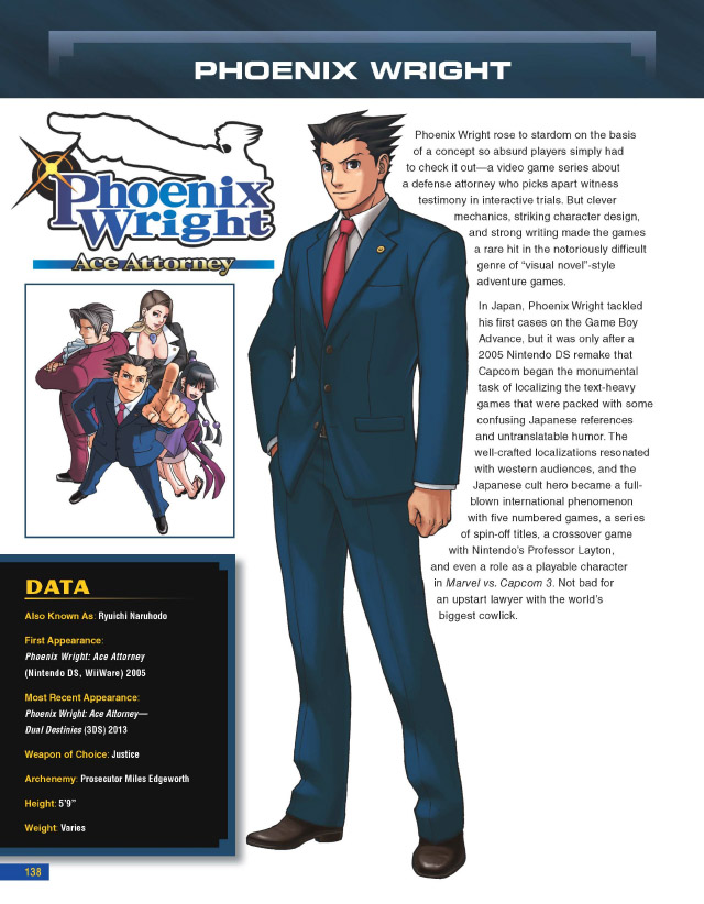Capcom Encyclopedia Phoenix Wright