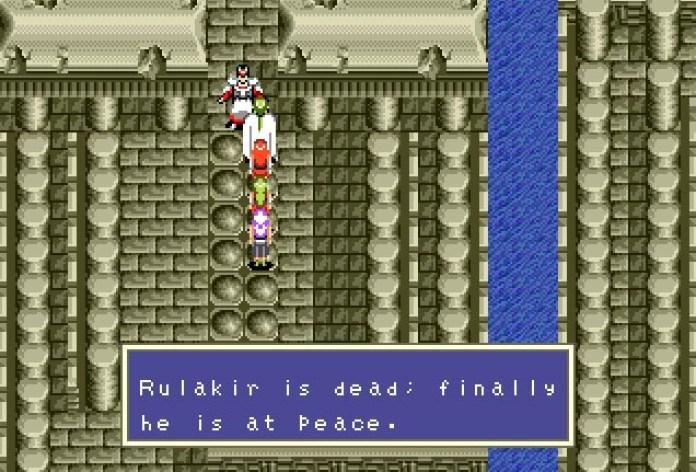 Phantasy Star III Rulakir derrotado