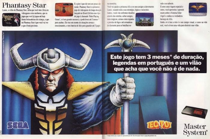 Phantasy Star em revista de games da época