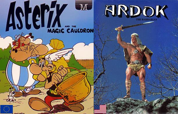 Asterix Ardok Commodore 64 cover art