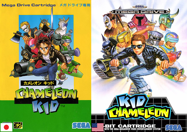 Kid Chameleon Mega Drive Genesis box art