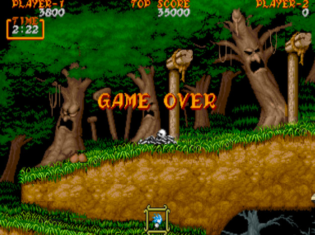 Ghouls 'n Ghosts - game over