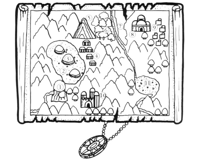 Alex Kidd in Miracle World mapa