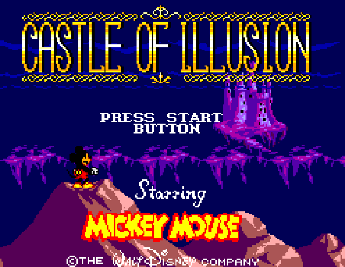 Castle of Illusion Master System screentitle