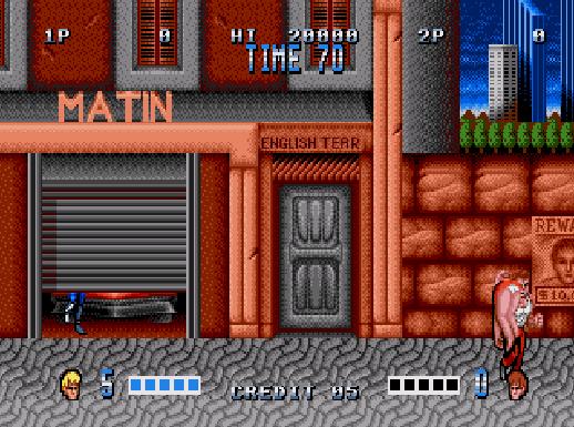 Double Dragon (Mega Drive) - inicio