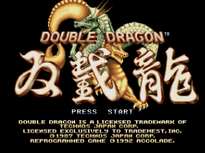 Double Dragon (Mega Drive) screen title