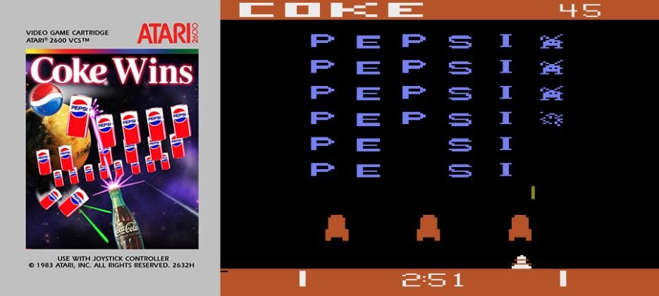 Pepsi Invaders Atari 2600
