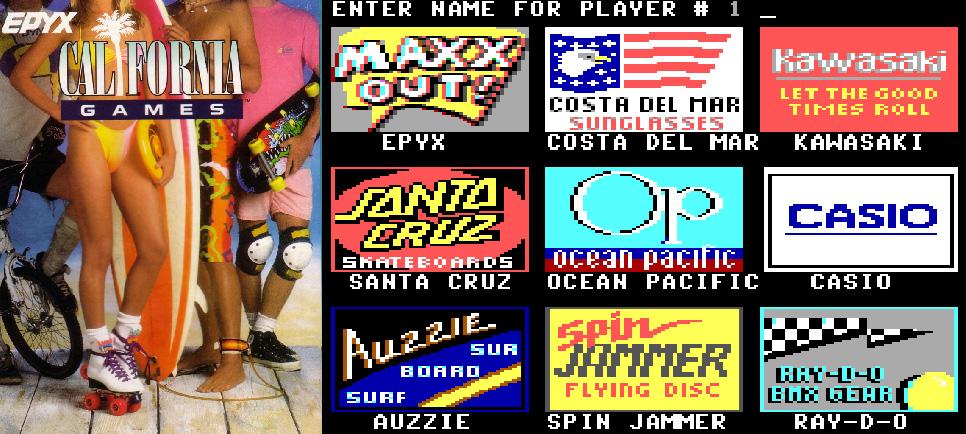 California Games DOS