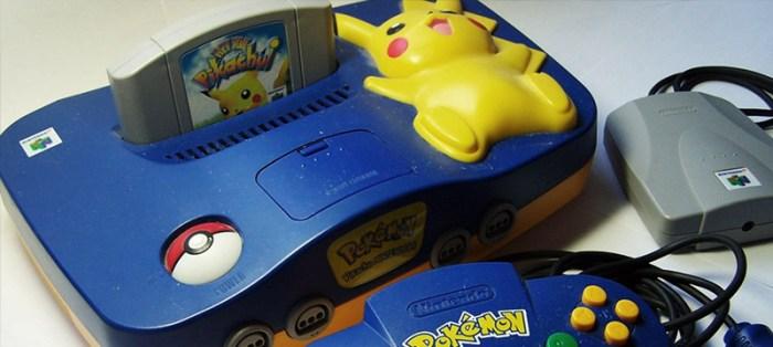 [Tópico Oficial] A Historia de cada Videogame.  Nintendo-64-Pikachu