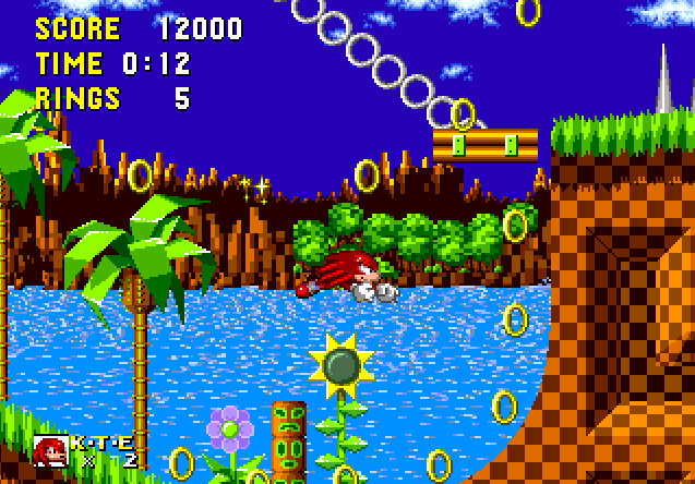 hacks knuckles in sonic 1