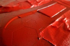 tinta vermelha no console