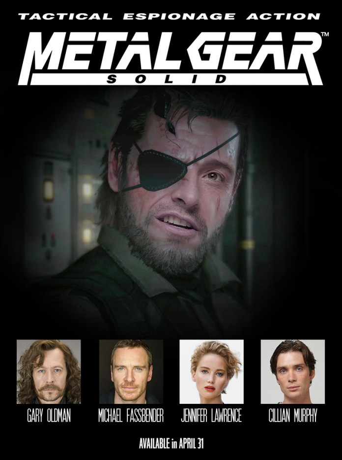 metal gear solid hugh jackman movie poster