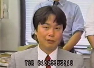 Miyamoto em entrevista dos anos 80, na fase de produção de Super Mario Bros.