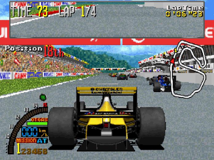 f1 super lap arcade