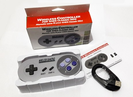 review wireless gamepad snes embalagem completa