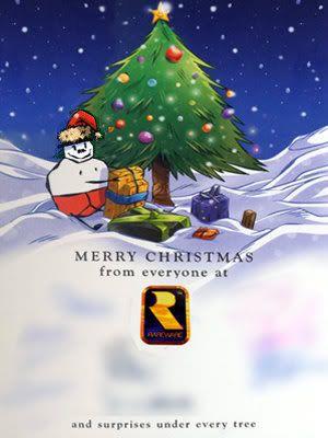 cartao natal rare xbox playstation