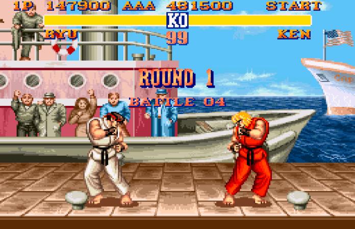 street fighter Ii snes ryu vs ken