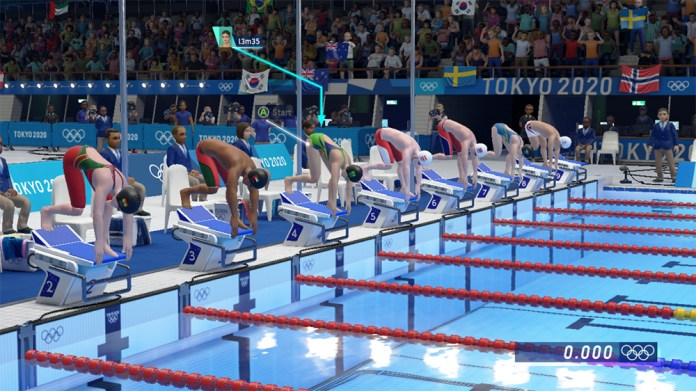 olympic games tokyo 2020 the official video game largada natacao