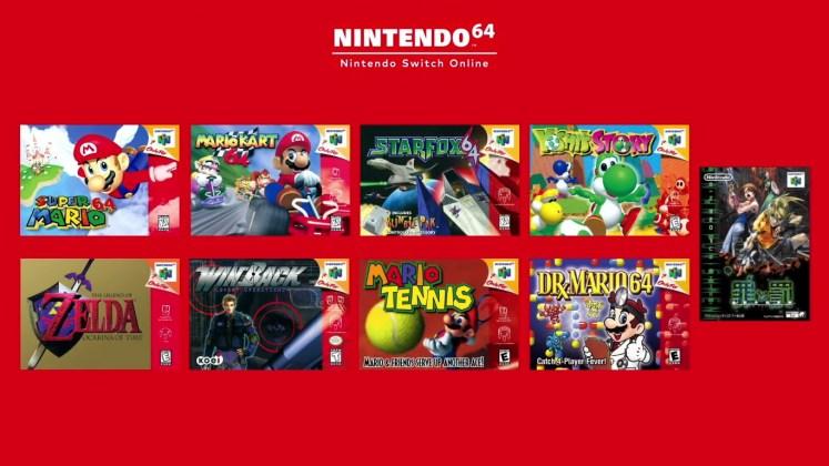 Jogos para N64 no Switch