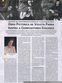 Obra pictórica de Violeta Parra, inspira a compositores chilenos