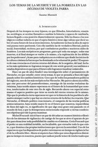 Los temas de la muerte y de la pobreza en las décimas de Violeta Parra