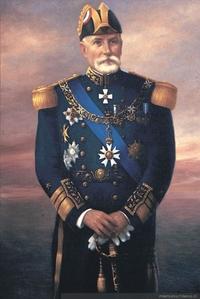Vicealmirante don Jorge Montt lvarez en traje de gala