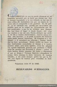 Despedida  Memoria Chilena Biblioteca Nacional de Chile