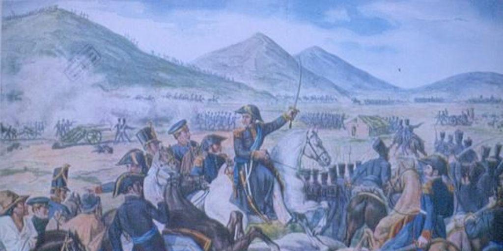 General San Martn en la Batalla de Chacabuco 1817