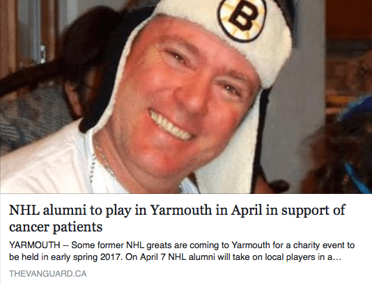 NHL alumni to play in Yarmouth in April in support of cancer patients