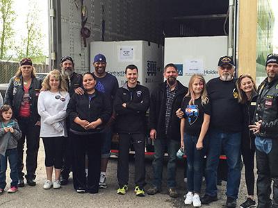 donation team at Douglas Elbert Task Force