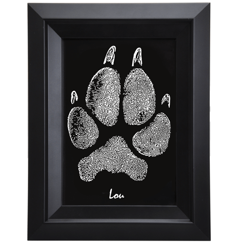 pet memorial portrait framed