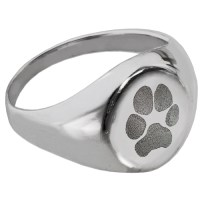 Elegant Round Ring with Paw Print