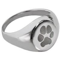 Elegant Round Ring with Paw Print | Precious Metal Jewelry ...