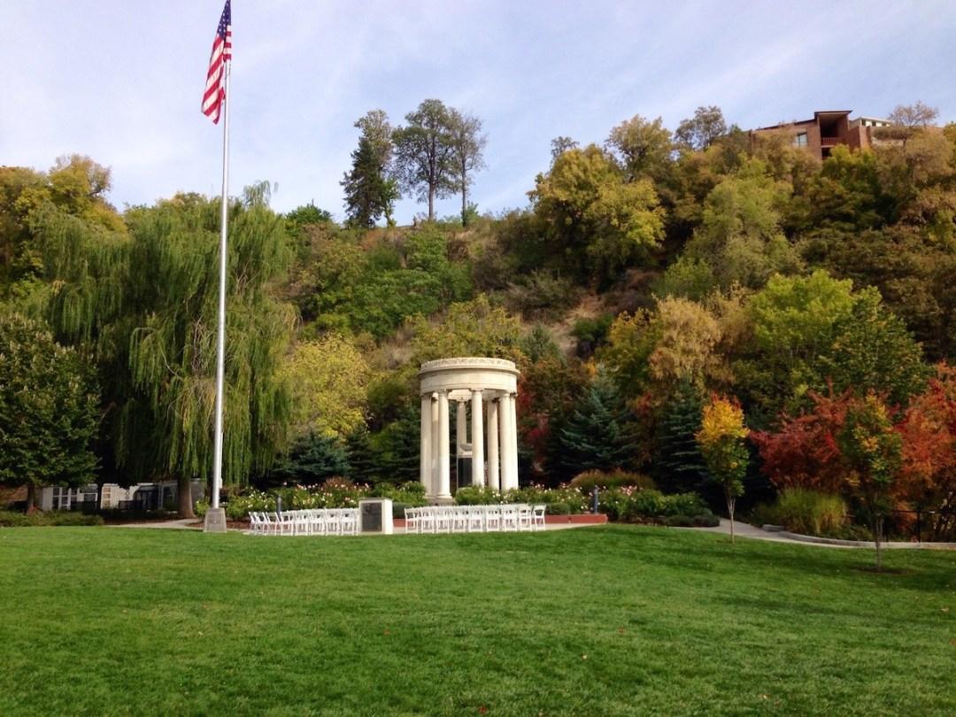 Memorial House in Memory Grove Park | White Monument