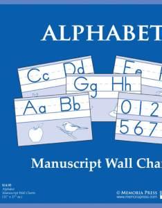 Alphabet manuscript wall charts also memoria press classical curriculum rh memoriapress