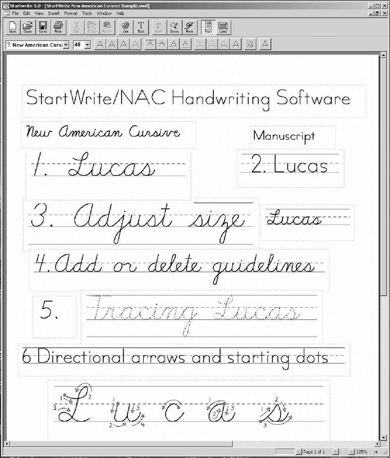 New American Cursive Startwrite Software Digital Download