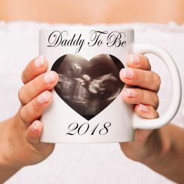 Daddy To Be Baby Scan Mug Mockup - Daddy To Be (Baby Scan) 2019 Mug Gift