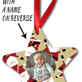 Photo Image 1st Christmas Front Listing Template CL Star Ornamen - Personalised Photo Baby 1st Christmas Star