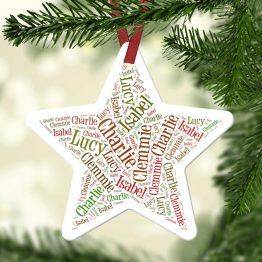 Website Listing Christmas Star - Personalised Aluminum Names Christmas Star