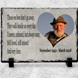 Personalised Peaple Slate 150x200 Template 1 - Memorial Slate Plaque