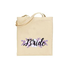 Bride Tote Bags - Personalised Bridal Favour Keepsake Gift Canvas Tote Bag