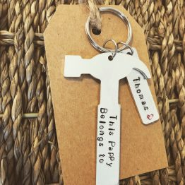 This Pappy Daddy Belongs To - This (Pappy/Daddy/Uncle/Brother) belongs to hammer handstamped keyring