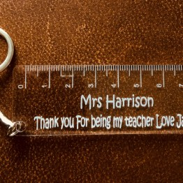 IMG 0650 - Thank you for being my teaching Assistant Engraved Acrylic Keyring