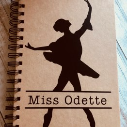 IMG 0688 - Personalised Ballerina Notebook
