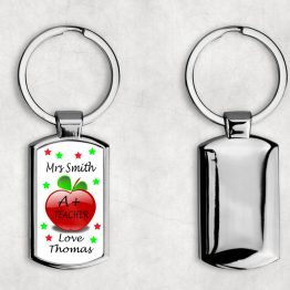 K113 Teacher Keyring - Personalised A+ Teacher Metal Keyring