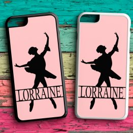 Ballerina MonoGram Name BN104 Back plastic Black White Case - Personalised Name Ballerina Phone Case