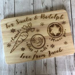 IMG 0882 - Personalised Christmas Santa or Father ChristmasTreat Chopping Board Gift